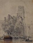 XVIII-89-01 Grote Kerk vanaf de Delftsevaart en Sint Laurensstraat