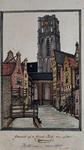XVIII-89 Gezicht op de Grote Kerk vanaf de Slijkvaart.