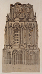 XVIII-90 Bovenste stuk van de toren van de Grote Kerk.