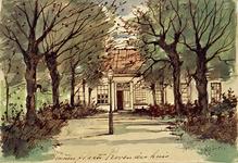 XX-47-3 Gezicht op de binnenplaats van het Proveniershuis aan de Schiekade westzijde.