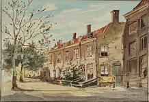 XX-47-5 Gezicht op de achterzijde van het Proveniershuis aan Schiekade zuidzijde.