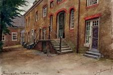 XX-52-2 Proveniershuis aan de achterzijde, stenen trap