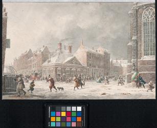 XX-77-1 Het gebouw van de Rumfordsche soepkokerij, op de hoek van het Grotekerkplein en de Torenstraat (later de Sint ...