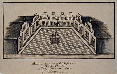 XX-78-2 Binnenplaats van het Hofje van Van der Veecken in de Frankenstraat.