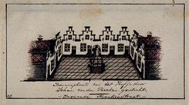 XX-78-5 Binnenplaats van het Hofje van Van der Veecken in de Frankenstraat.