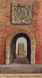 XX-82 Hofje van Van der Veecken in de Lange Frankenstraat.