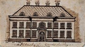 XX-83 Voorgevel van het Hofje van Gerrit de Koker aan de Goudsesingel.