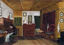 XX-85-05-2 Een kamer in het Gesticht van het Hofje van Gerrit de Koker aan de Goudsesingel.