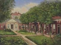 XX-87 Binnenplaats van het hofje Uit Liefde en Voorzorg aan de Schiedamsesingel - Schiedamse Vest, gezien uit het oosten.