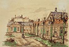 XX-88 Gezicht op het hofje Uit Liefde en Voorzorg aan de Schiedamsesingel.