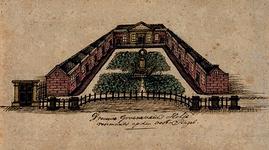 XX-99-2 Het Hofje van Vrouwe Groeneveld aan de Goudsesingel.