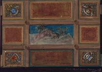 XXI-38 Schets Plafond Museum Boymans .Plafond in het Museum Boymans.