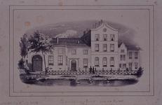 XXII-155 Gezicht op het Zendelingshuis aan de Rechter Rottekade, uit het oosten.