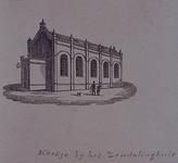 XXII-156 Kerkje bij het Zendelingshuis aan de Rechter Rottekade.