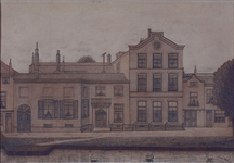 XXII-158 Zendelingshuis aan de Rechter Rottekade uit het oosten gezien.