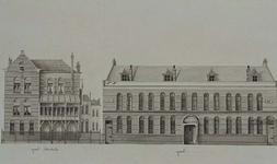 XXII-164-02 De Rijkskweekschool voor vroedvrouwen aan de Raampoortstraat, en de gevel aan de Schiekade.