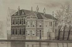 XXII-4-01 De Openbare Rijnschippersschool aan de Boshoek, gezien uit het westen vanaf de Schiedamsesingel.