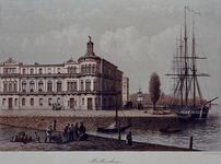 XXIII-129 Gezicht op het Yachtlubgebouw, aan de Willemskade, en de Veerhaven.