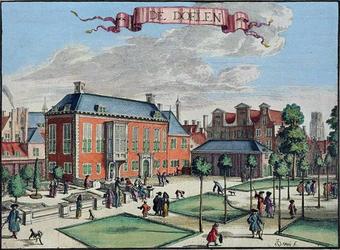 XXIII-2 Gezicht op de achterzijde van de Sint Joris Doelen aan de Haagseveer.