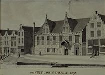 XXIII-8 Gezicht op de St.Joris Doele aan het Haagseveer.