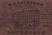 XXIV-18 Groot Hotel van Engeland, vanouds het Zwijnshoofd aan de Grotemarkt uit het noordwesten.
