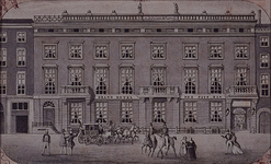 XXIV-43 Gezicht op Hotel des Pays Bas aan de Boompjes.