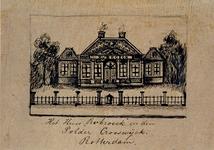 XXIV-59-01 Huis Rubroek in de polder Crooswijk bij Rotterdam.