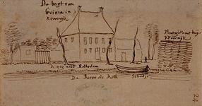 XXIV-63 De bogt van Guinea in Krooswijk en de plantagie van t huijs Krooswijk'