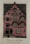 XXIV-67-1 Voorgevel van het schippershuis, het tweede huis aan de Slepersvest of Mosseltrap.