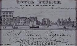 XXIV-71 Hotel Weimar aan de Spaansekade met de belendende percelen en het Zeekantoor, uit het zuidwesten.