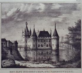 XXIX-13 Het slot Bulgersteyn aan de Bulgersteyn.