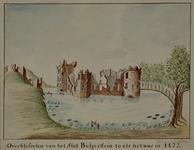 XXIX-17 Overblijfselen van het slot Bulgerstein zoals het was in 1472.
