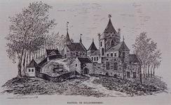 XXIX-22 Gezicht op het kasteel aan de Kerkstraat te Hillegersberg en de kerk, anno 1350..