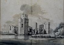 XXIX-27-00-03 Ruïne kasteel Honingen aan het Park Honingen.