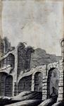 XXIX-27-1 Gezicht op de ruïne van slot Honingen.