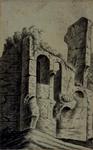 XXIX-27-3 Gezicht op de ruïne van slot Honingen.