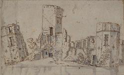 XXIX-29-01 De ruïne van het slot Honingen.