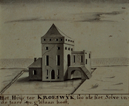 XXIX-35 Gezicht op het huis te Crooswijk.