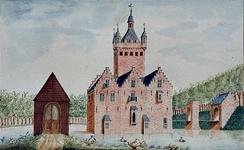 XXIX-37 Gezicht op het slot Mathenesse of Huis te Riviere te Schiedam.