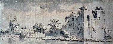 XXIX-41 Ruïne van het Slot Mathenesse, Huis te Riviere, te Schiedam.