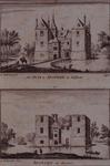 XXIX-50 Boven: Het huis te Spangen.Onder: Ruïne van het slot Spangen.