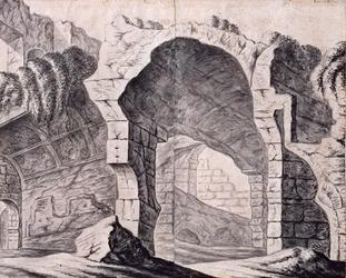 XXIX-64-3 Gefantaseerde voorstelling van de ruïne van het Hof van Weena.