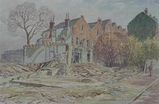 XXV-138-03 Afbraak van huizen aan de Coolsestraat, uit het westen.