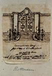 XXV-164-1 Poort van buitenplaats Groenendaal aan de Crooswijkseweg. Opschrift boven de poort met de tekst: Solis ortu ...