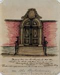 XXV-164-2 Poort van buitenplaats Groenendaal aan de Crooswijkseweg. Opschrift boven de poort met de tekst: Solis ortu ...