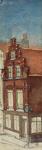 XXV-172-1 Gezicht op een huis aan de Delftsevaart, op de hoek van de Sint-Jacabsstraat.2 tekeningen op één karton: XXV ...