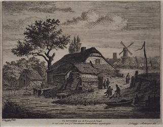 XXV-181 Boerderij aan de Diergaardesingel.
