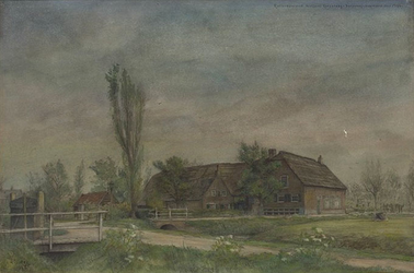 XXV-194-01 Gezicht op de boerderij aan de Dorpsweg, hoek de Korperweg, uit het westen.