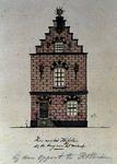 XXV-203 Voorgevel van een huis aan de Galerij, bij de Oppert.