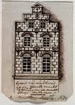 XXV-252-2 Voorgevel van het huis De Zon aan de Grote Markt, 2de huis vanaf de Wijde Marktsteeg.2 tekeningen op één ...